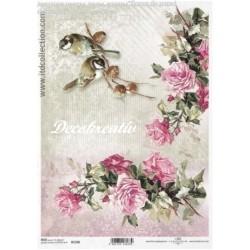 Ryžový papier A4 - Ruže