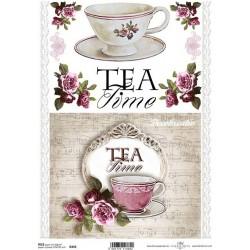 Ryžový papier A4 - Tea Time