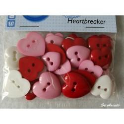 Gombíky Heartbreaker -...