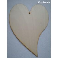 Drevený výrez srdce v. 20 cm