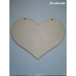 Drevený výrez srdce 25x19 cm