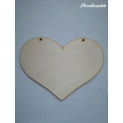 Drevený výrez srdce 18x13 cm