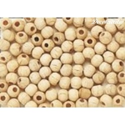 Korálky drevené 4 mm,...