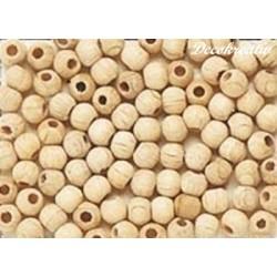 Korálky drevené 8 mm natur,...