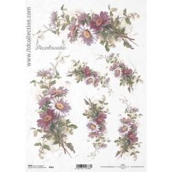 Ryžový papier A4 - Chryzantémy