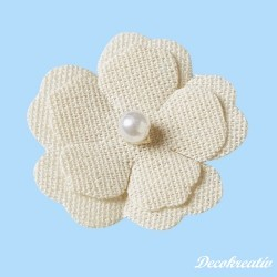 Textilné kvety, 40 mm, 4 ks