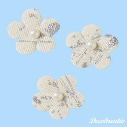 Textilné ľanové kvety, 24...