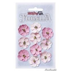 Papierové kvety - ružová
