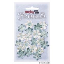 Papierové kvety - svetlomodrá