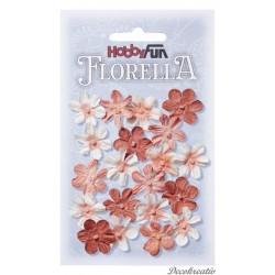 Papierové kvety - broskyňová