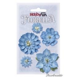 Papierové kvety - modrá