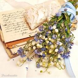 Servítka 33x33 cm Love Bouquet