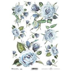 Ryžový papier A4 - Ruže v...