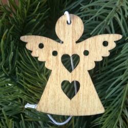 Drevený výrez anjel 5x0,2 cm