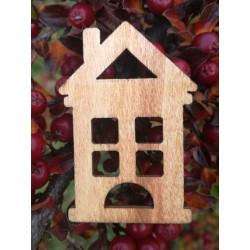 Drevený výrez domček 5x0,2 cm