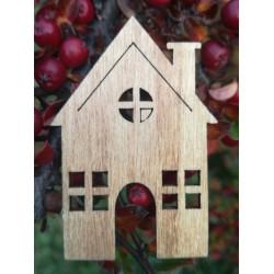 Drevený výrez domček 5x0,2...