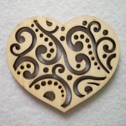 Filigránové srdce 7x6 cm