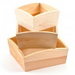 Sada drevených misiek, 3 kusy