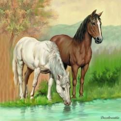 Servítka 33x33 cm Horses -...