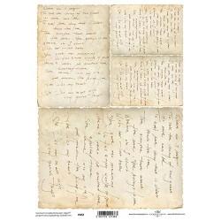 Ryžový papier A4 - Staré písmo