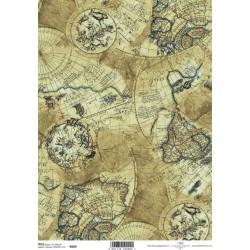Ryžový papier A4 - Stará mapa