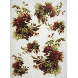 Ryžový papier A4 - Ruže bordó