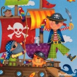 Servítka 33x33 cm Pirates -...