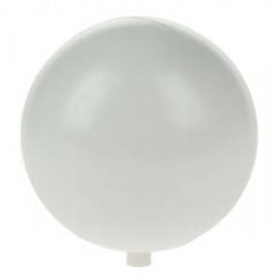Guľa plastová biela, 8 cm