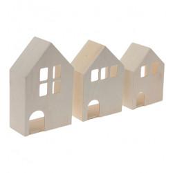 Drevená dedinka - domčeky...
