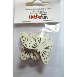 Drevený výrez motýlik -...