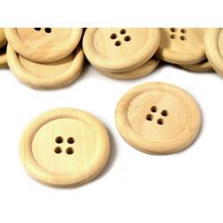 Gombík veľký drevený, pr. 3...
