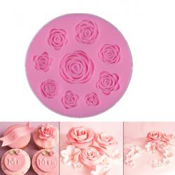 Silikónová forma 9 ružičiek