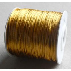 Šnúrka saténová 1 mm zlatá,...