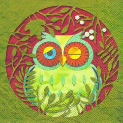Servítka 33 x 33 cm Owls...