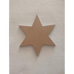 Hviezda MDF 15 cm, hr. 6 mm