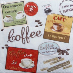 Servítka 25 x 25 cm Coffe -...