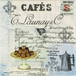 Servítka 33x33 cm Café Collage