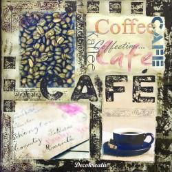 Servítka 33x33 cm Kaffee -...
